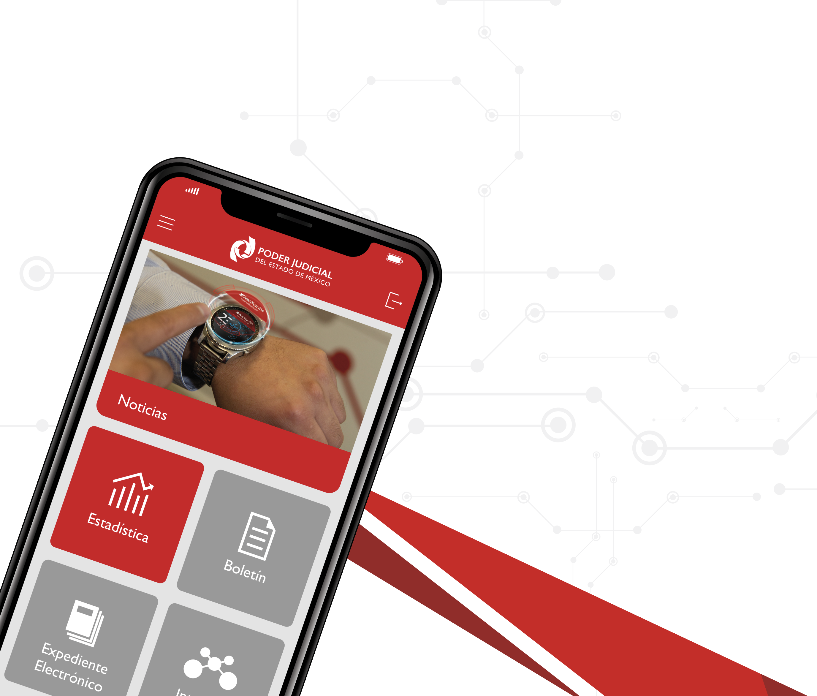 A través de la App PJEdomex estamos contigo sin importar donde estés